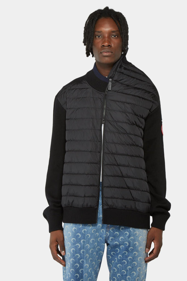 Y/Project x Canada Goose Quilted nylon and black wool jacket