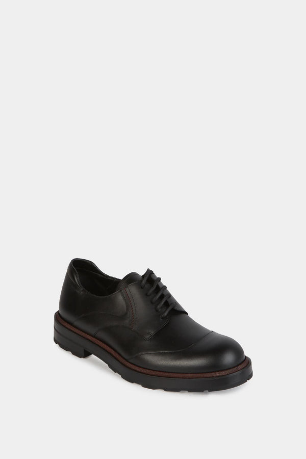 Bally Derbies en cuir noir Bally