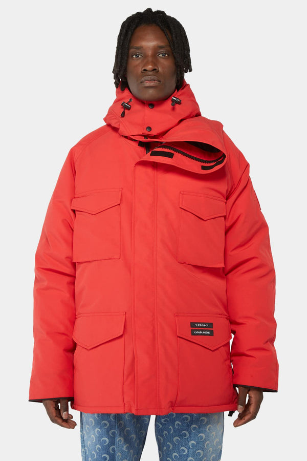 Y / Project x Canada Goose Red parka with asymmetric collar