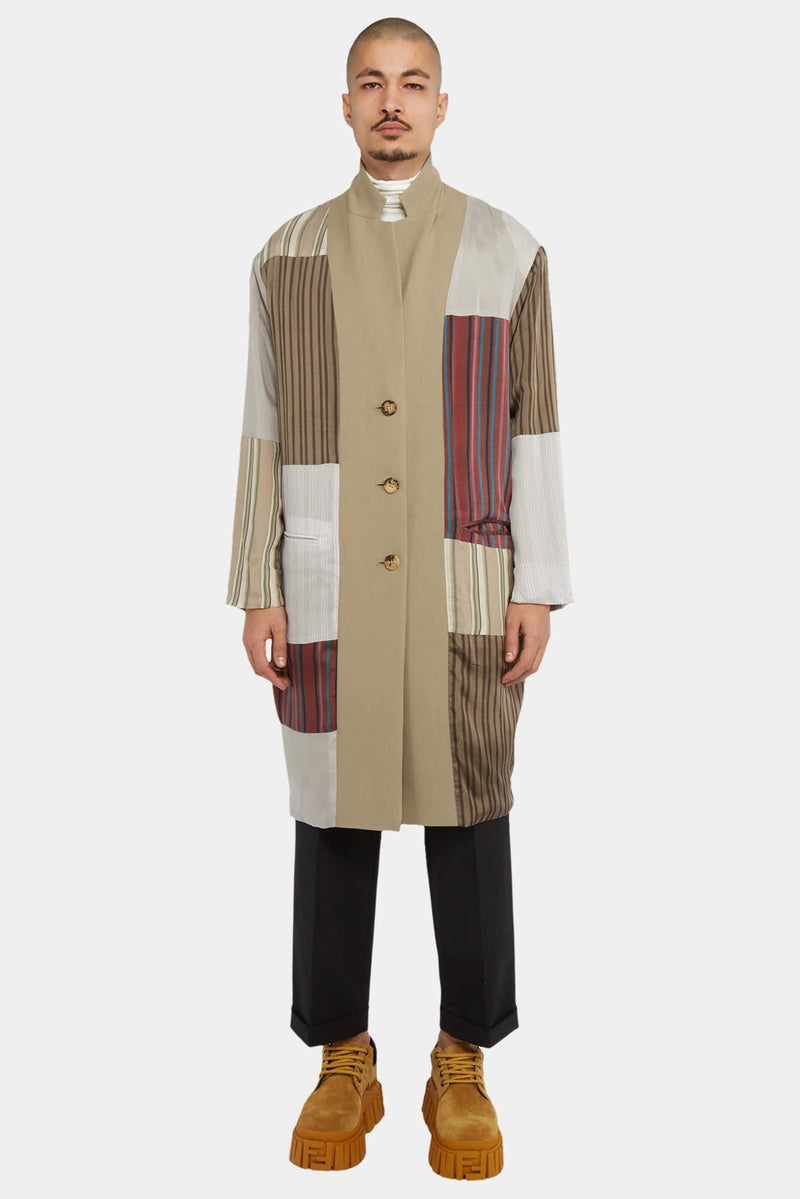 Ambush Manteau mi-long beige réversible Ambush