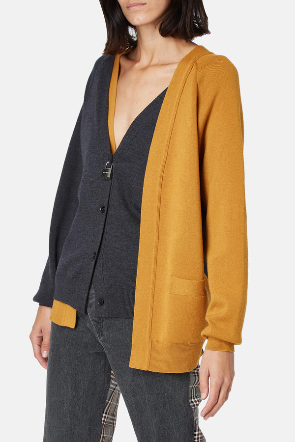 Cardigan en laine bi-colore Monse