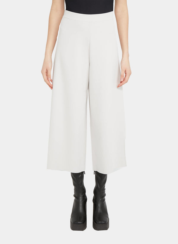 Stella McCartney Pantalon écourté blanc cassé Stella McCartney