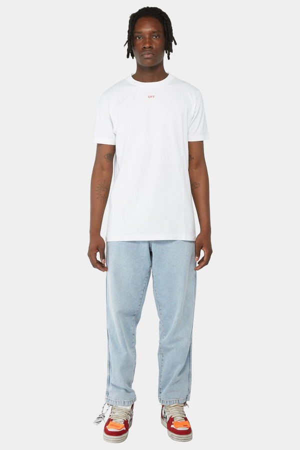 T-shirt blanc à imprimé rouge Off-White