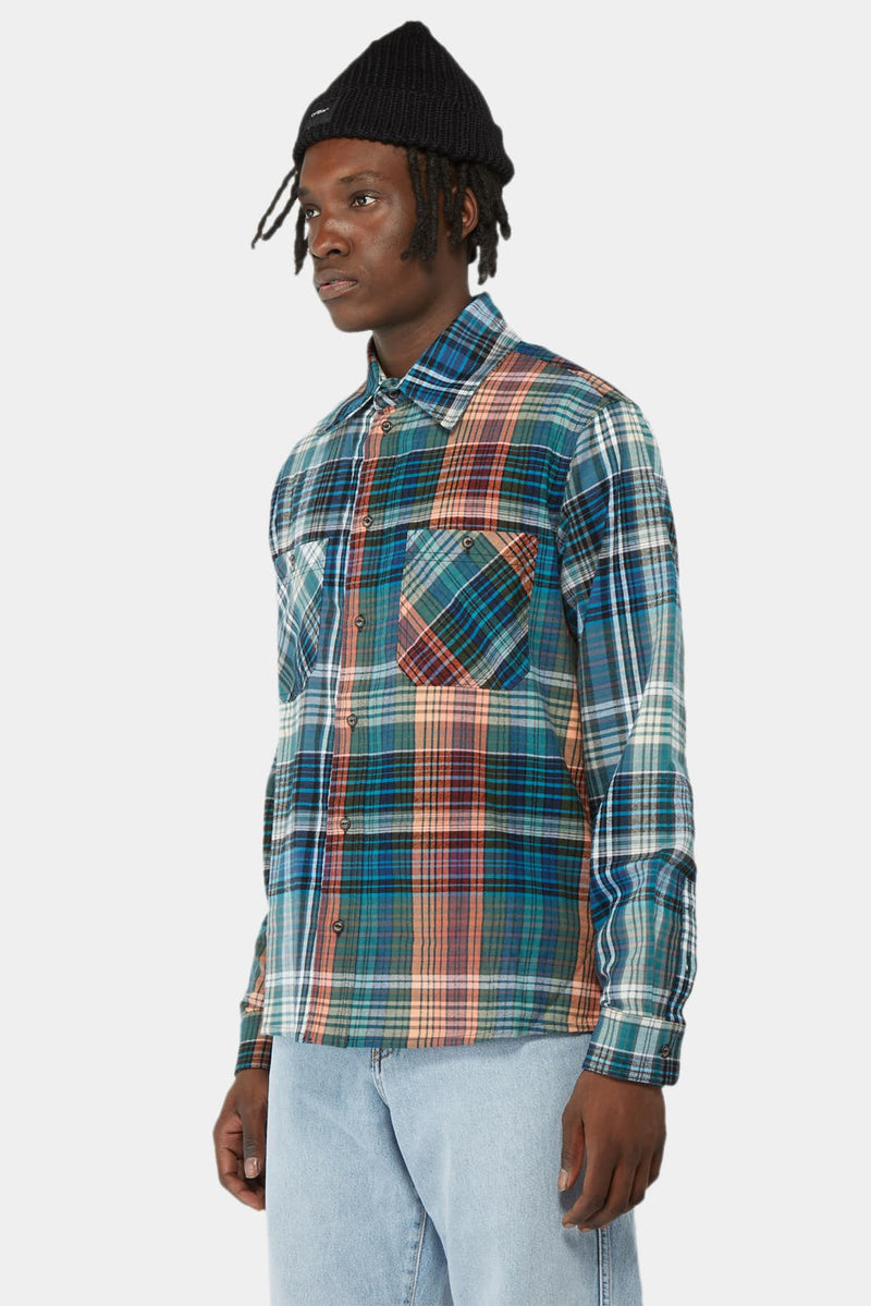 Chemise à carreaux multicolores Off-White