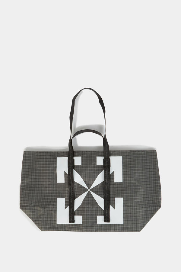 "Off-White Sac cabas gris ""Arrow"" Off-White"