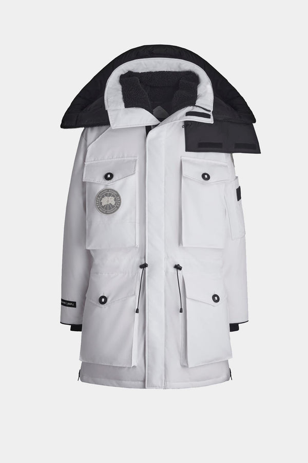 "Parka blanche ""Expedition"" Canada Goose x Juun.J"
