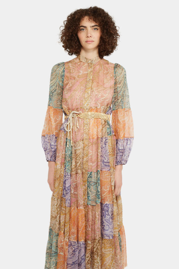 "Zimmermann Robe-chemise patchwork ""Brighton"" Zimmermann"