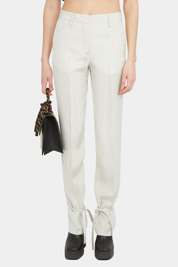 Off-White Pantalon blanc à chevilles nouées Off-White