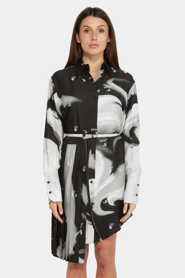 Off-White Robe-chemise à imprimé abstrait Off-White