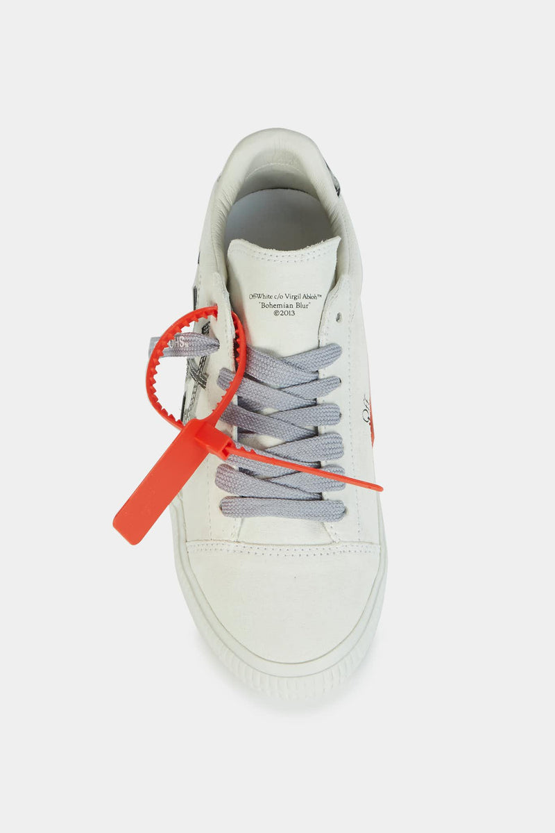 "Off-White Baskets basses en daim blanc ""Vulcanized"" Off-White"