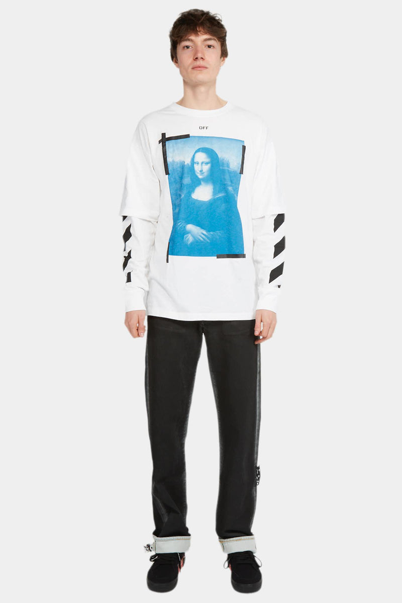 Off-White T-shirt à effet superposé en coton Off-White