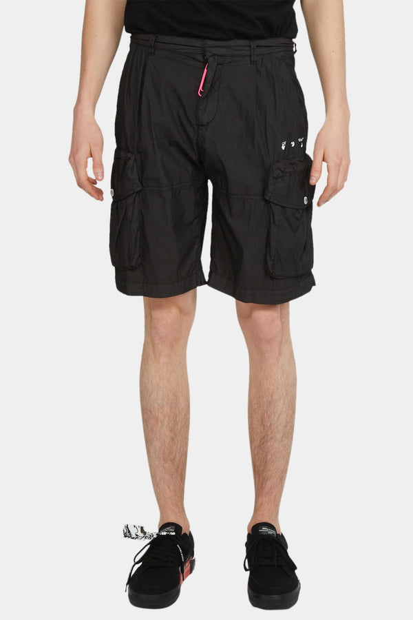 Off-White Short noir à poches cargo Off-White
