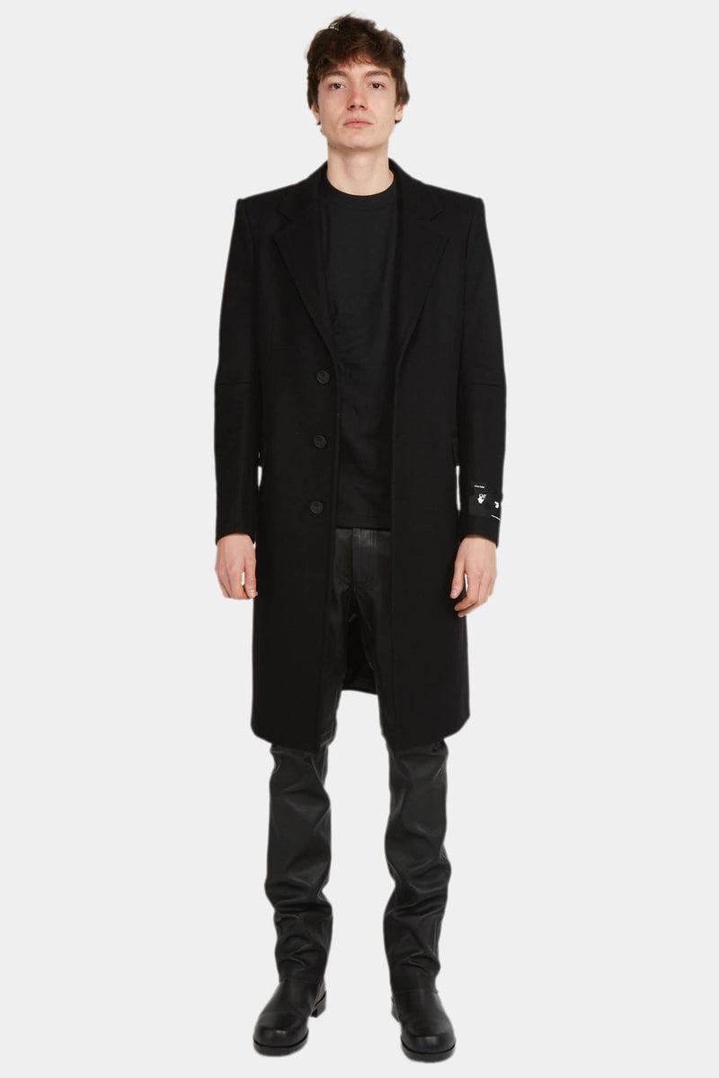 Off-White Manteau long en laine mélangée Off-White