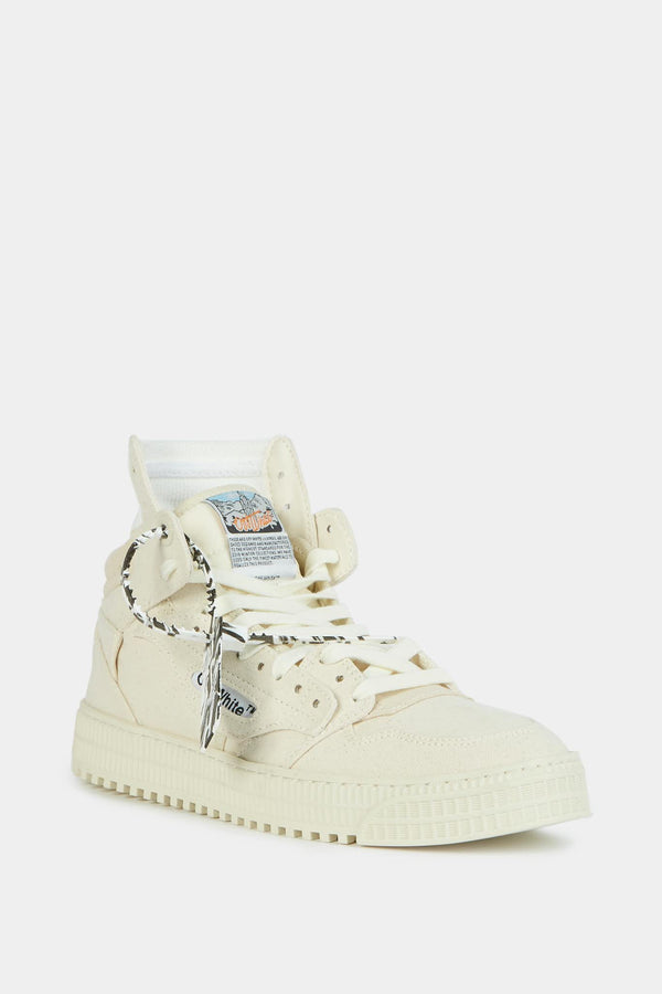 "Off-White Baskets montantes en daim beige ""Off-Court""  Off-White"