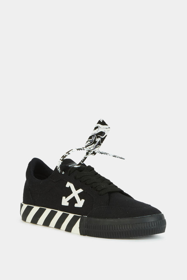 "Off-White Baskets basses en tissu noir ""Vulcanized"" Off-White"