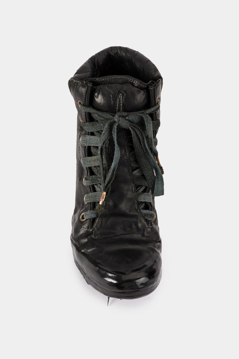 Carol Christian Poell Black Leather Highs