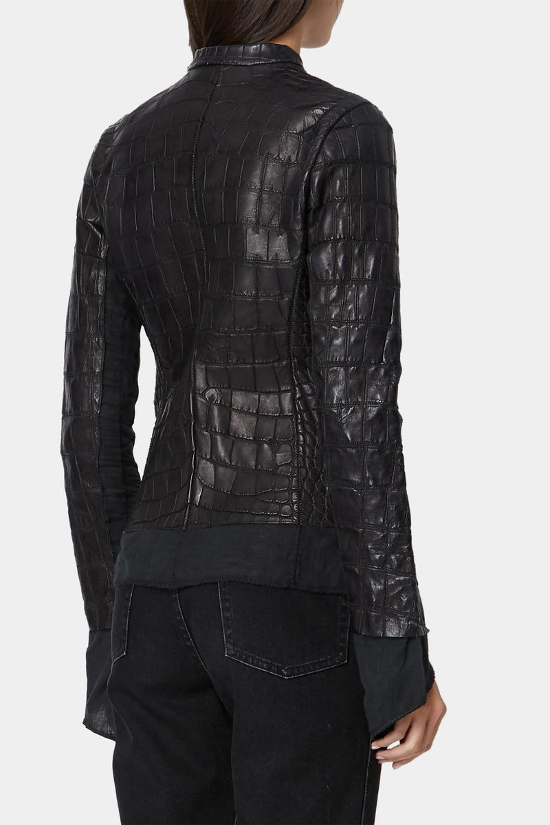 Veste en alligator noire Affamee