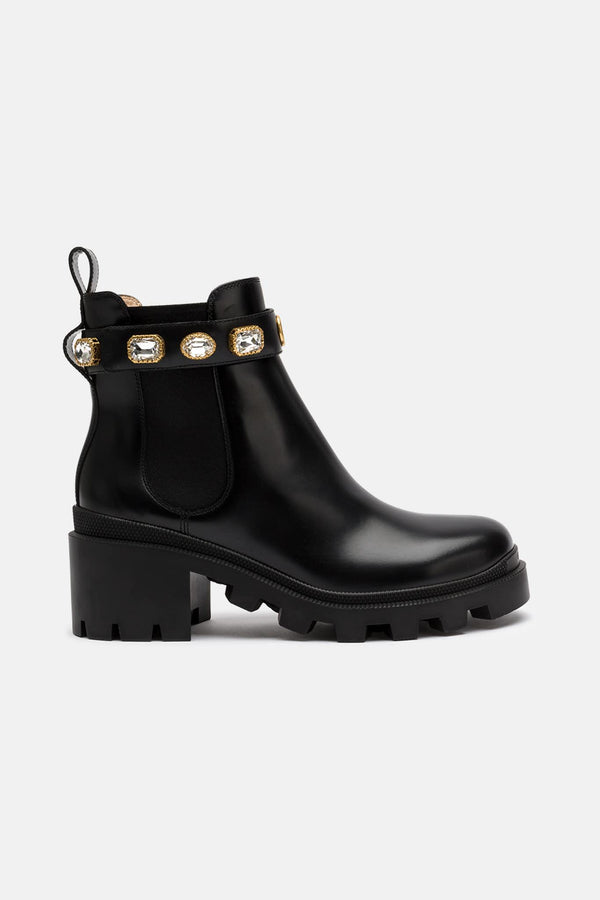 Bottines en cuir noires