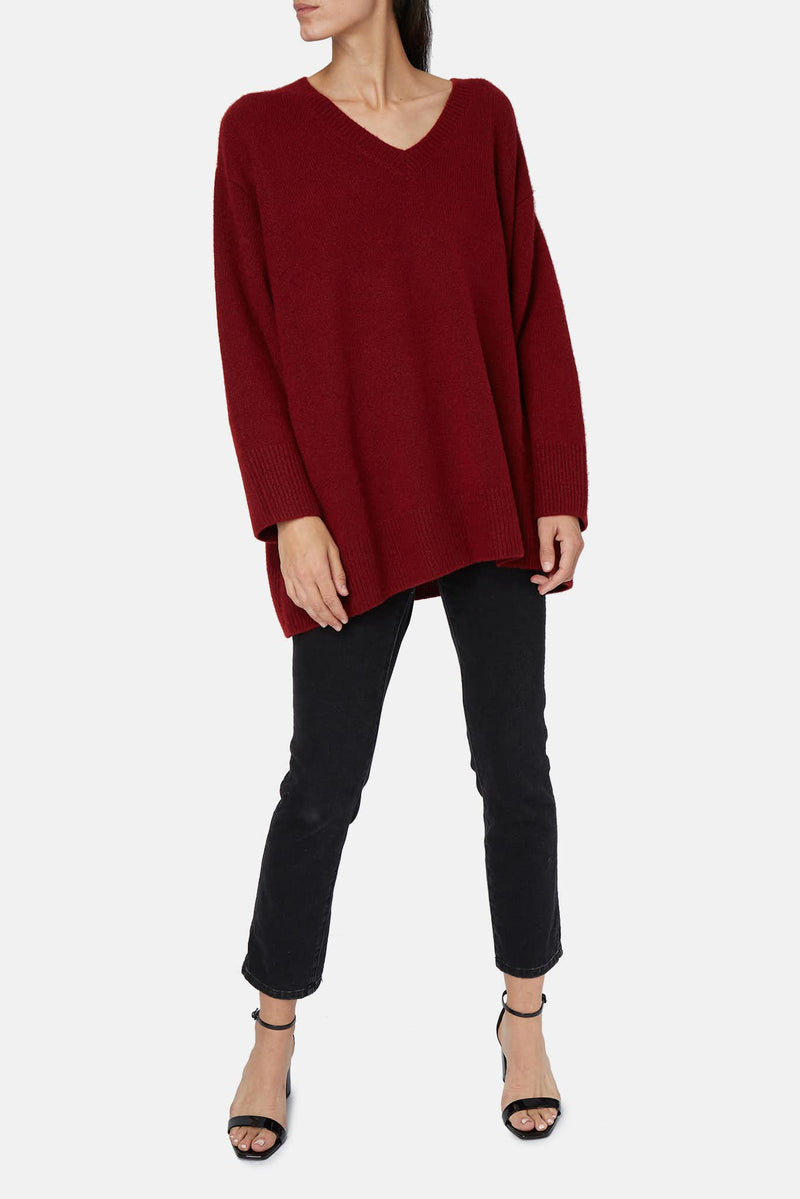 Pull bordeaux Sabrinah The Row