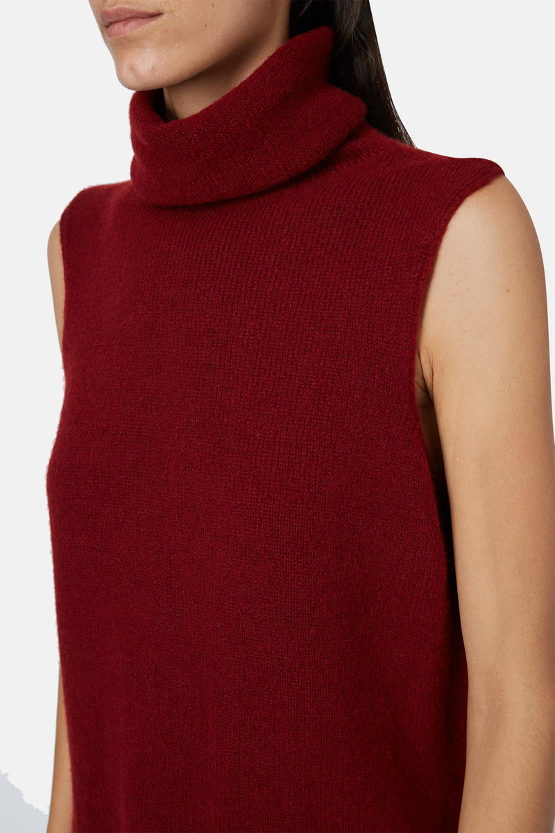 Pull sans manches bordeaux Leond The Row