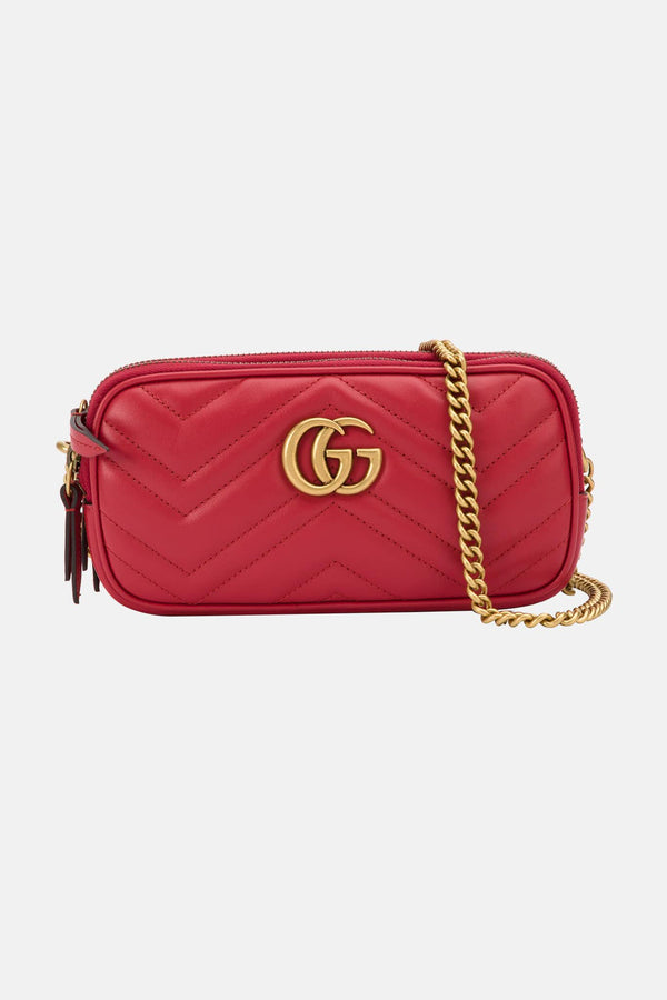 Mini sac rouge GG Marmont Gucci