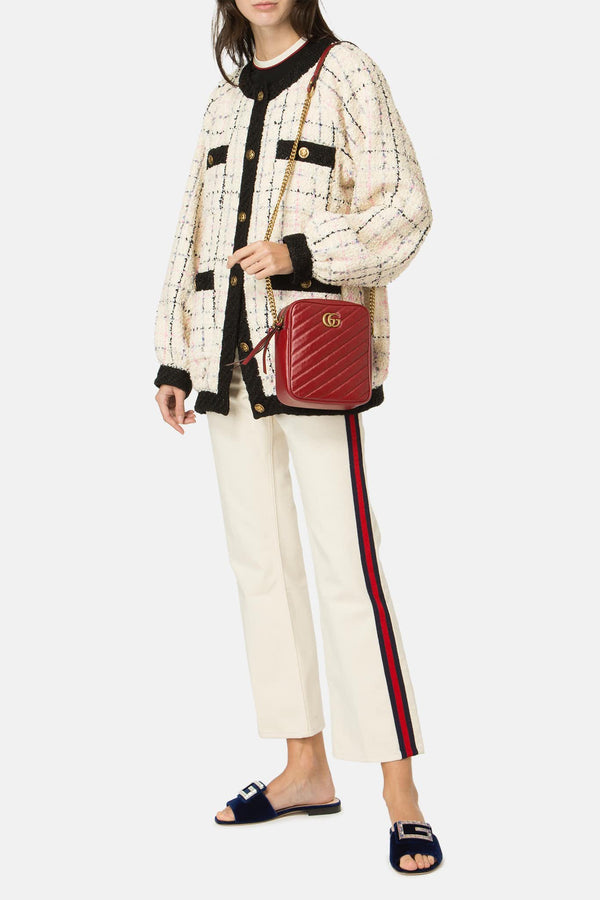 "Sac en cuir rouge ""GG Marmont"" Gucci"