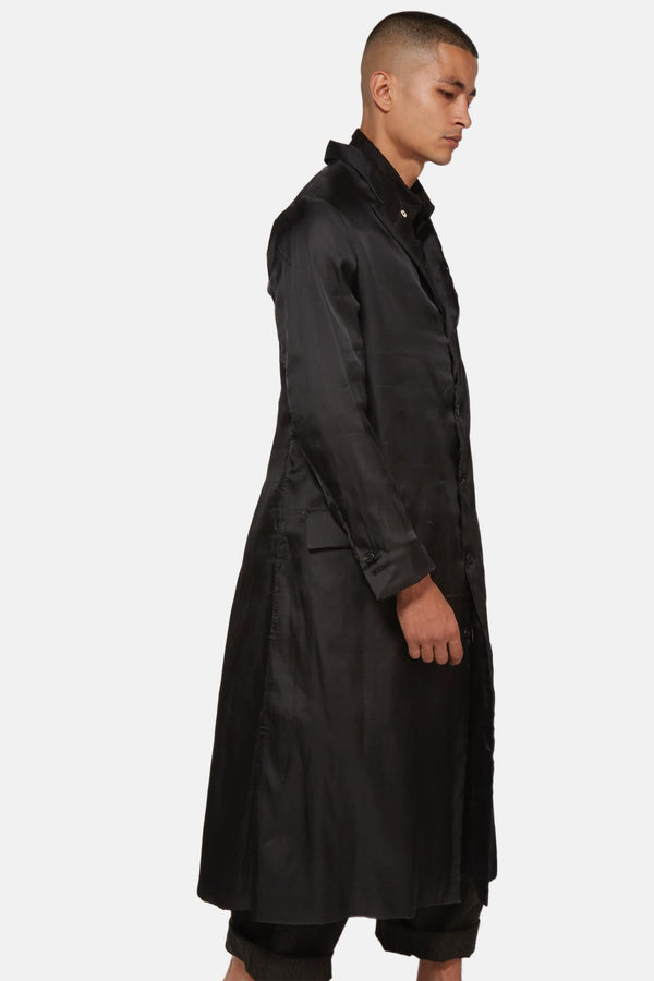 Manteau long noir Paul Harnden