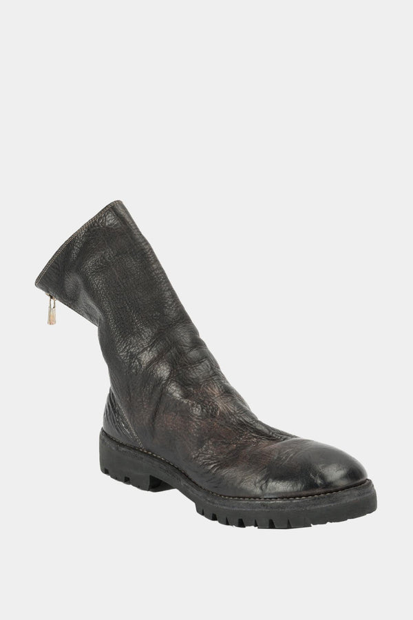 Guidi Black leather zipped boots