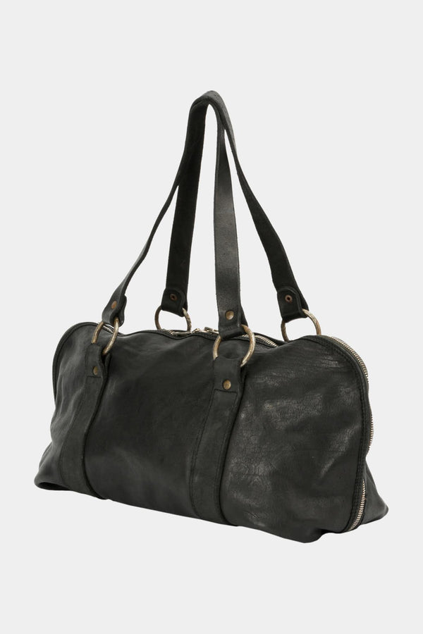 Guidi Black leather shoulder bag