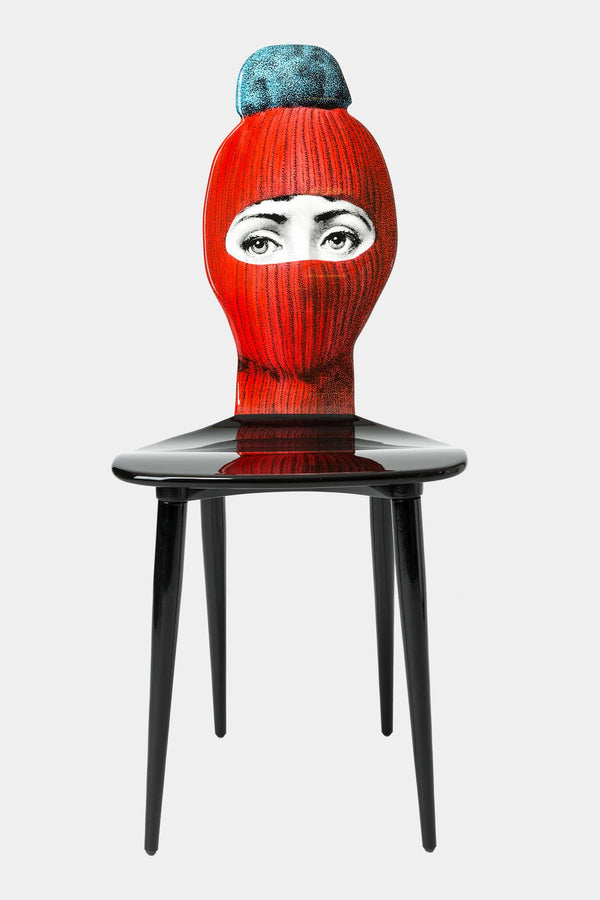 Fornasetti Chaise Lux Gstaad - rouge/bleu