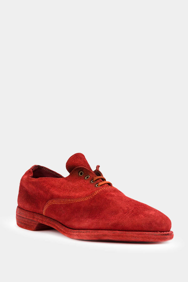 Guidi Red suede brogues