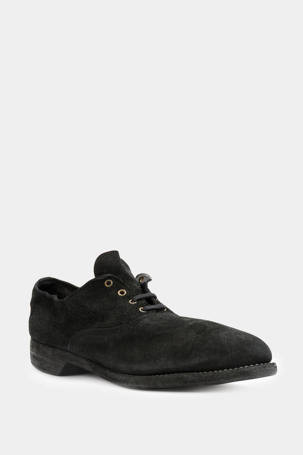 Guidi black suede oxfords
