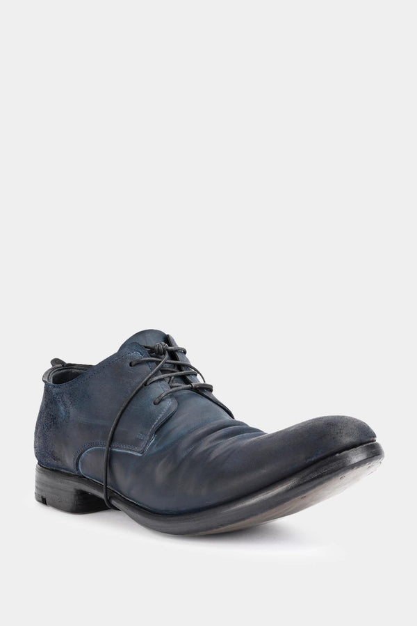 Layer-0 Derbies en cuir cordovan bleu encre