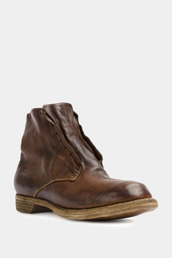 Guidi Bottines en cuir marron