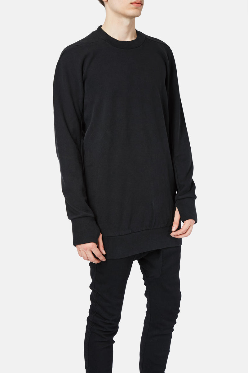 Sweat long en coton noir Boris Bidjan Saberi