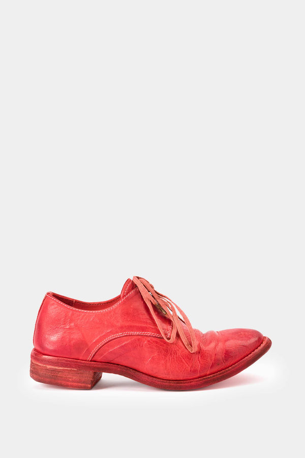 Carol Christian Poell Derbies en cuir rouges