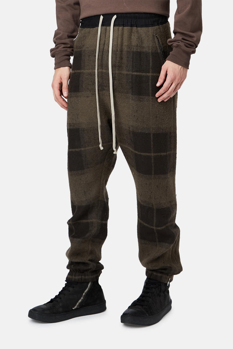 Pantalon à carreaux en laine