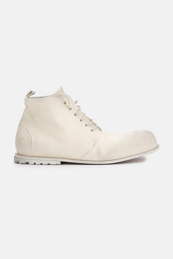 Bottines en cuir blanches