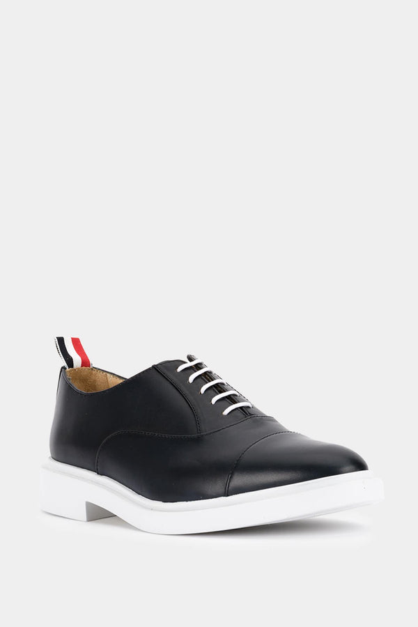 Thom Browne Richelieus in navy blue leather