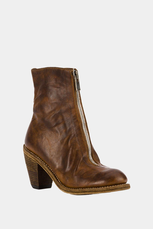 Guidi Brown leather ankle boots