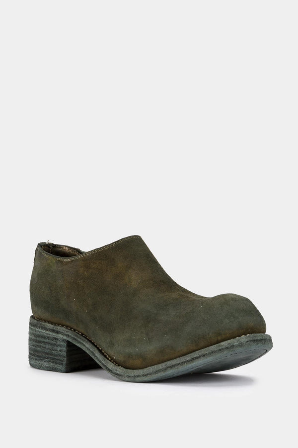 Guidi Green suede ankle boots