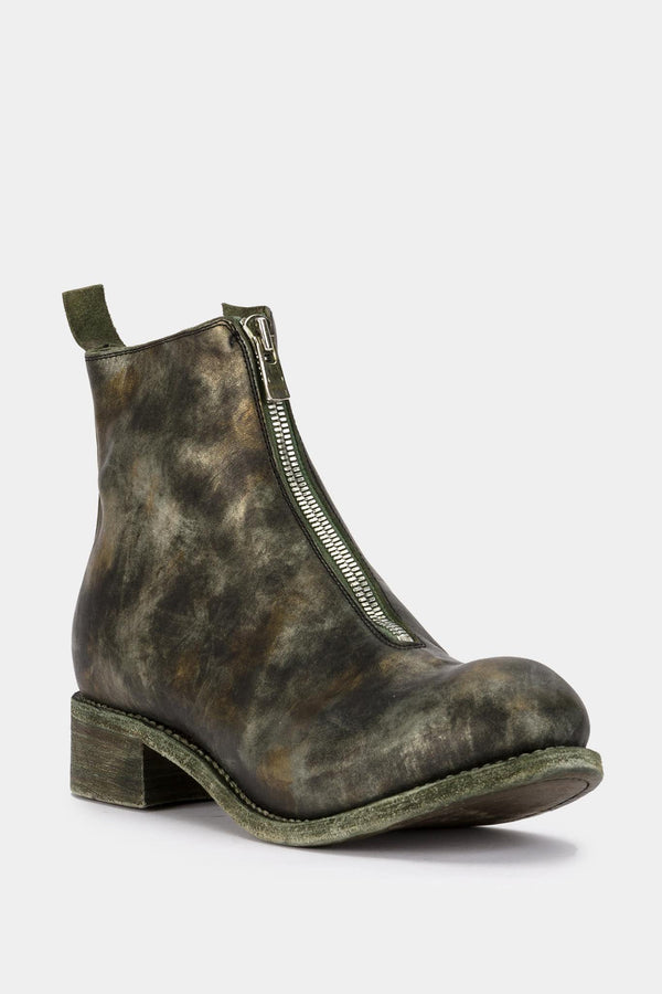 Guidi Zipped camouflage leather ankle boots