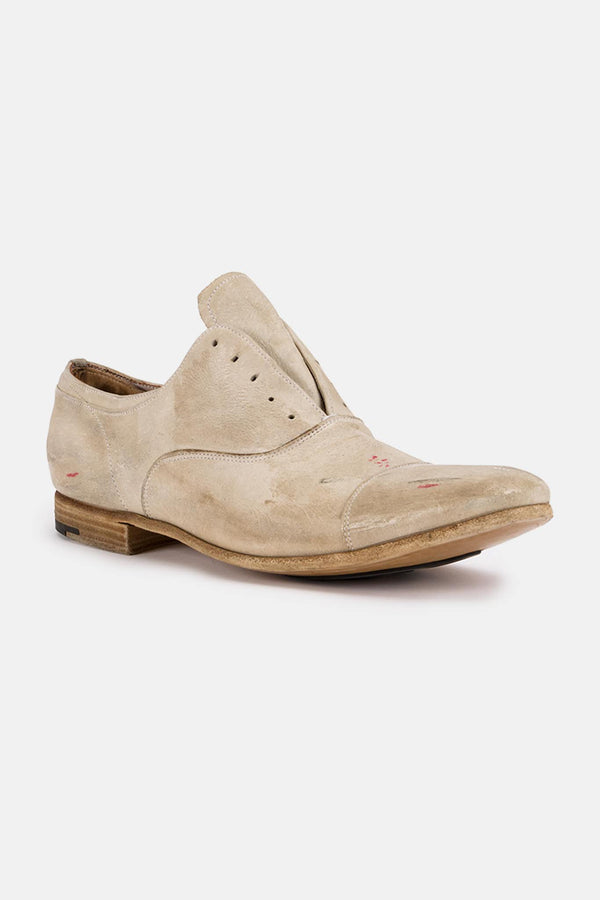 Derbies en cuir beiges