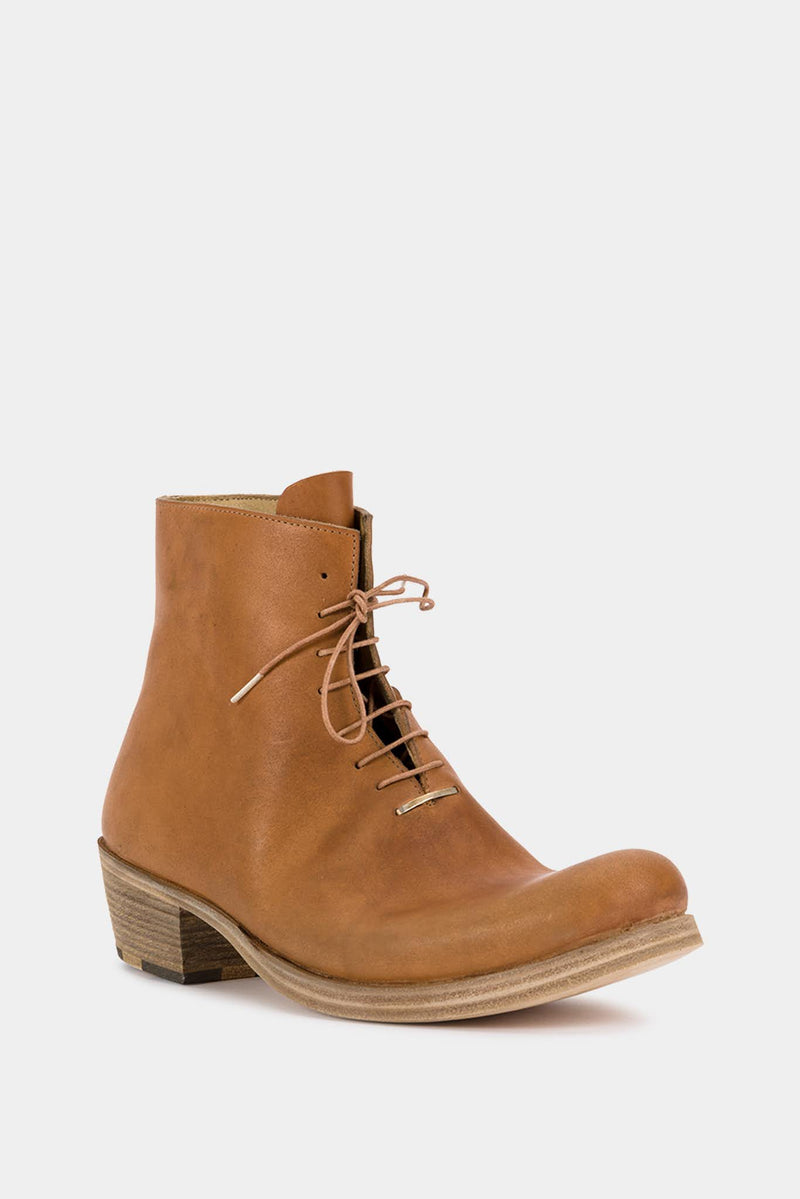 M.A+ Bottines en cuir marron