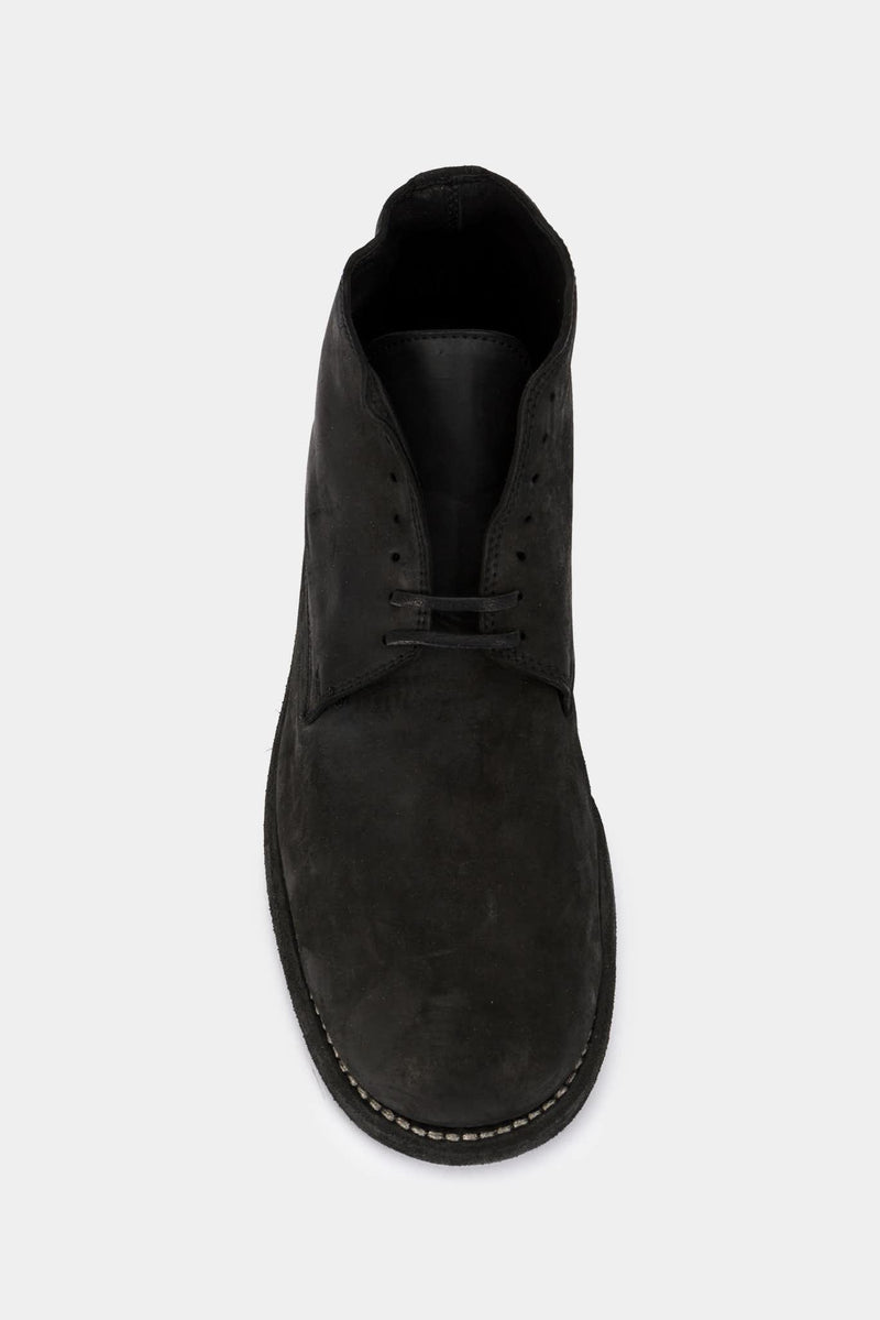 Guidi Derbies en cuir cordovan noires