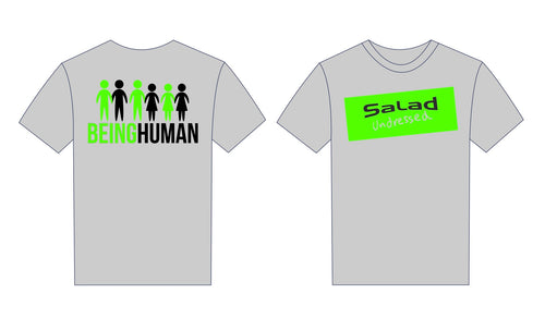 Short Sleeved Grey Salad Undressed 'Being Human' T-Shirt