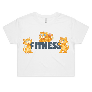 Fitness Cats AS Colour - Womens Crop Tee