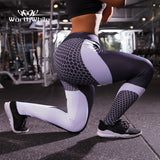 WorthWhile Women Honeycomb Yoga Pants Foot Tights High Waist Sports Seamless Legging Gym Fitness Female Sportwear Super Stretchy