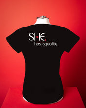 Load image into Gallery viewer, Combed Cotton SHE.-shirt - SHE. owns it
