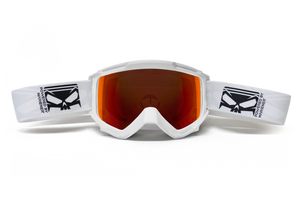 SMC Goggle White - Red Lava Lens